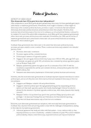 Political Structures_Essay Outlines