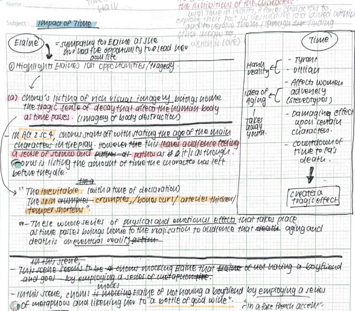 2017 O-level Pure Lit handwritten notes 2