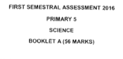 P5 Science SA1 2016 Henry Park Exam Papers