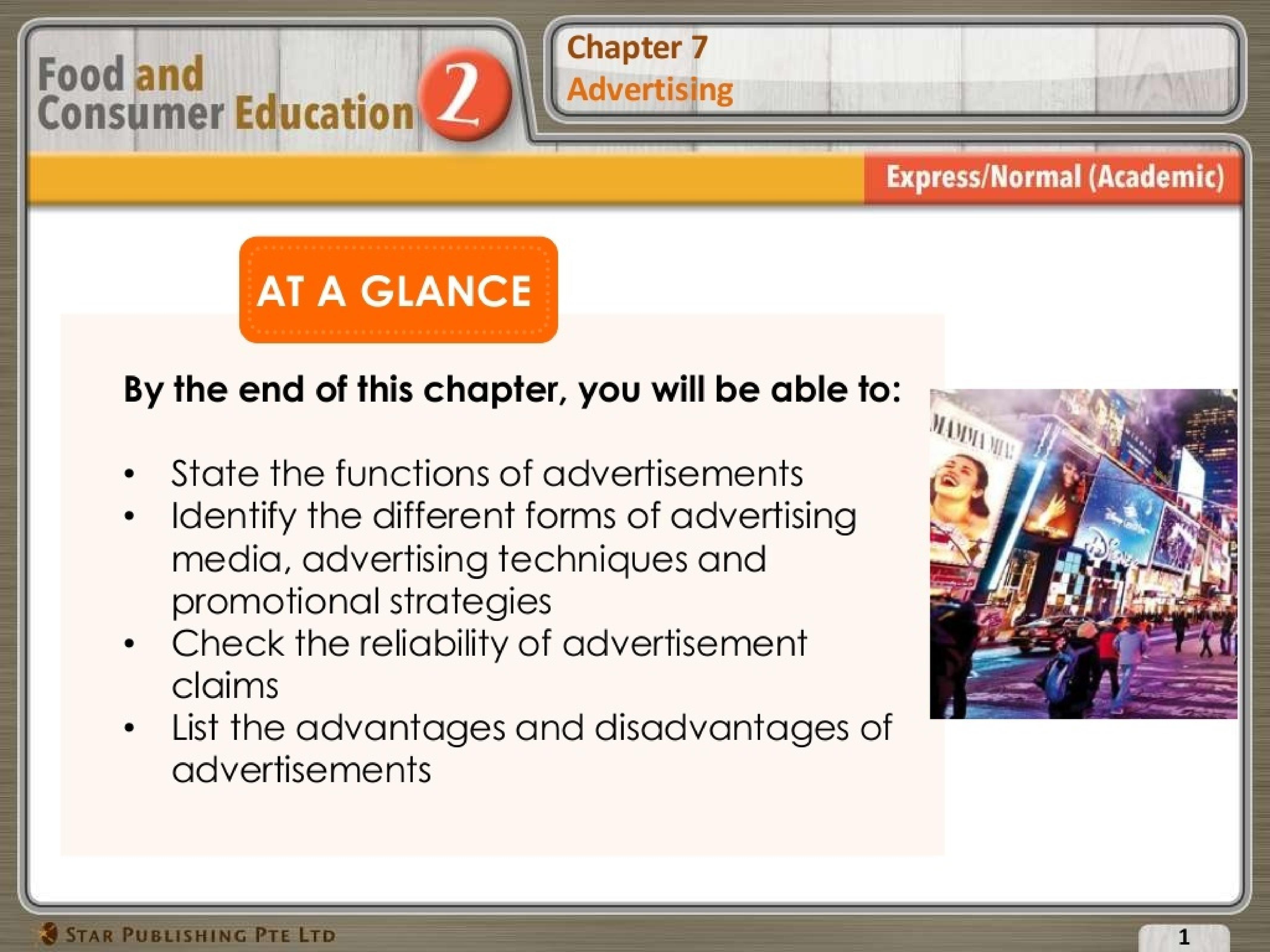 (Sec 2 FCE) Advertising