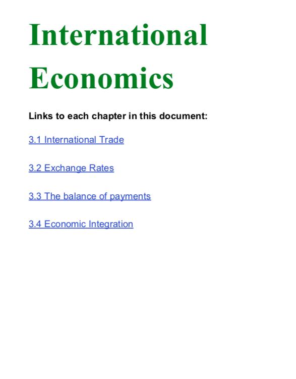 International Econs